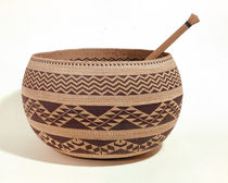South Western Native American cooking basket by American School