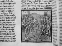 The Battle of Crecy in 1346 from Froissart's Chronicles von French School