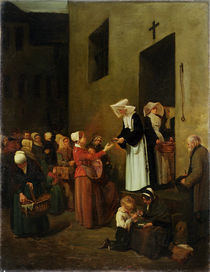 Charity, 1851 by Francois Bonvin