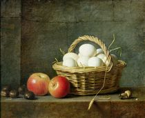 The Basket of Eggs, 1788 von Henri Roland de la Porte