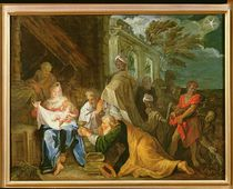 Adoration of the Magi, 1708 von Claude Verdot