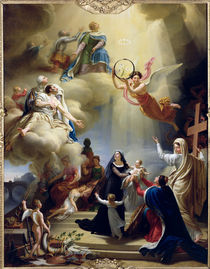 Allegory in Honour of the Birth of Henri de France Duke of Bordeaux in 1820 by Jean-Charles Tardieu