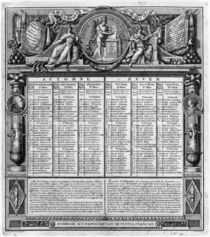 Republican calendar, 22nd September 1793 by Francois Maria Isidore Queverdo