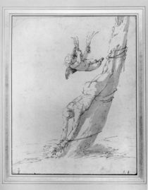 A Saint Tied Upside Down to a Tree by Jusepe de Ribera