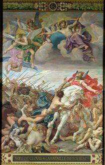 The Vow of Clovis at the Battle of Tolbiac in 506 by Joseph Paul Blanc