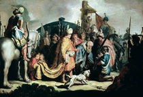 David Offering the Head of Goliath to King Saul by Rembrandt Harmenszoon van Rijn