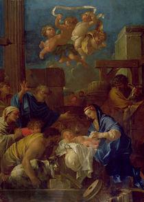 The Adoration of the Shepherds by Sebastien Bourdon