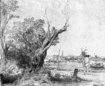 View of Omval, near Amsterdam von Rembrandt Harmenszoon van Rijn
