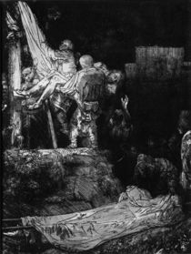 The Descent from the Cross with a Torch by Rembrandt Harmenszoon van Rijn