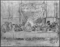 The Last Supper, after the fresco by Leonardo da Vinci c.1635 by Rembrandt Harmenszoon van Rijn