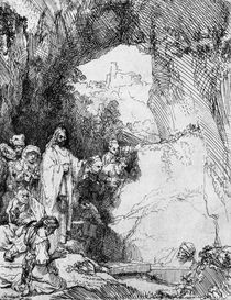 The Small Raising of Lazarus by Rembrandt Harmenszoon van Rijn