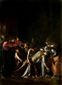 Resurrection of Lazarus by Michelangelo Merisi da Caravaggio