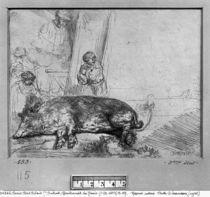 The Sow, 1643 von Rembrandt Harmenszoon van Rijn