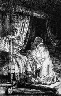 King David at prayer, 1652 by Rembrandt Harmenszoon van Rijn