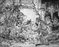 Nativity, 1654 von Rembrandt Harmenszoon van Rijn