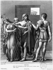 Phaedra, Theseus and Hippolytus by Anne Louis Girodet de Roucy-Trioson