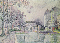 The Canal Saint-Martin, 1933 by Paul Signac