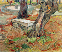 The Bench at Saint-Remy, 1889 by Vincent Van Gogh