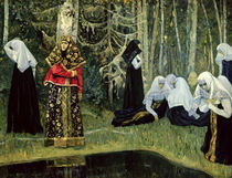 The Legend of the Invisible City of Kitezh by Mikhail Vasilievich Nesterov