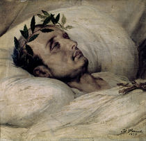 Napoleon I on his Deathbed by Emile Jean Horace Vernet