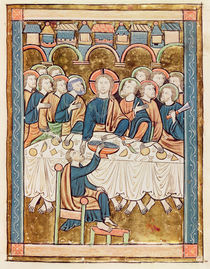 Ms 3016 fol.14 The Last Supper by French School