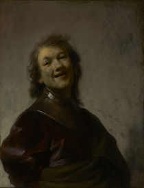 Rembrandt Laughing, c. 1628 by Rembrandt Harmenszoon van Rijn