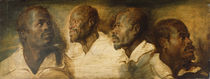 Four Studies of Male Head, c.1617-1620 by Peter Paul Rubens