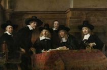 The Wardens of the Amsterdam Drapers' Guild von Rembrandt Harmenszoon van Rijn
