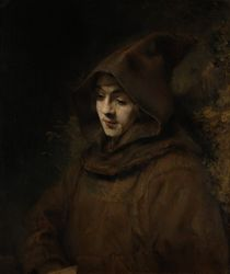 Rembrandt's Son Titus in a Monk's Habit by Rembrandt Harmenszoon van Rijn