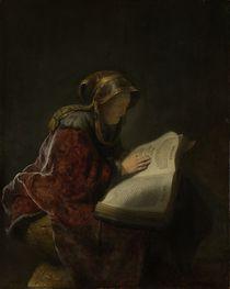 An Old Woman Reading, Probably the Prophetess Hannah von Rembrandt Harmenszoon van Rijn