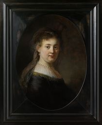 Young Woman in Fantasy Costume by Rembrandt Harmenszoon van Rijn