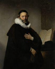 Portrait of Johannes Wtenbogaert by Rembrandt Harmenszoon van Rijn