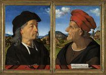 Portraits of Giuliano and Francesco Giamberti da Sangallo von Piero di Cosimo