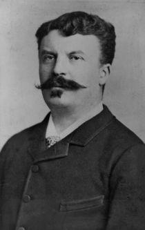 Portrait of Guy de Maupassant von Alphonse Liebert