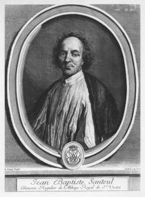 Portrait of Jean-Baptiste de Santeul von Gerard Edelinck