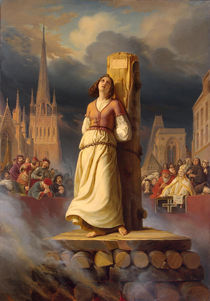 Joan of Arc's Death at the Stake by Hermann Anton Stilke