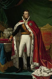Portrait of William I of the Netherlands von Joseph Paelinck