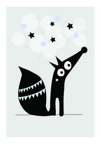 Fox under the stars von eveelliot