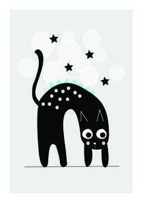 Cat under the stars von eveelliot