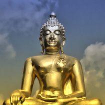 Buddha im Abendschein von kattobello