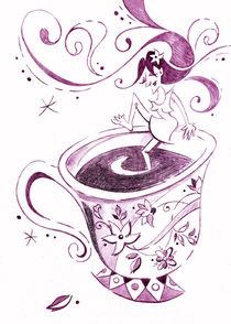 I Love Coffee Illustration - Arte Caffè by nacasona