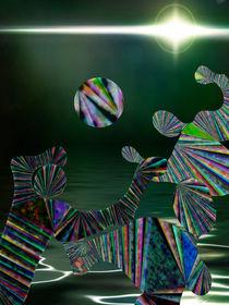 Water ball at night - Wasserball von Chris Berger