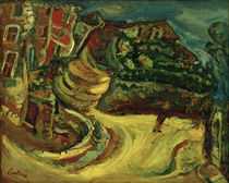 Chaim Soutine, Street in Céret / Painting, 1921/24. by AKG  Images