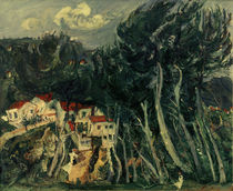 Ch. Soutine, Village left, trees right / painting, 1922/23 by AKG  Images