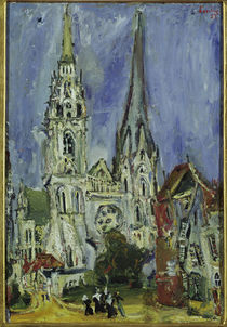 Ch. Soutine, The cathedral of Chartres / painting by AKG  Images