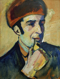 Franz Marc / Painting by August Macke by AKG  Images