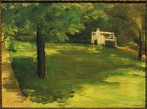 Liebermann / Garden bench under chestnut by AKG  Images