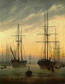 Friedrich / View of a harbour /  c. 1815 by AKG  Images