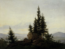 Friedrich / View into the Elbe valley/1807 by AKG  Images