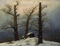 Friedrich / Megalithic grave i. snow/c. 1807 by AKG  Images